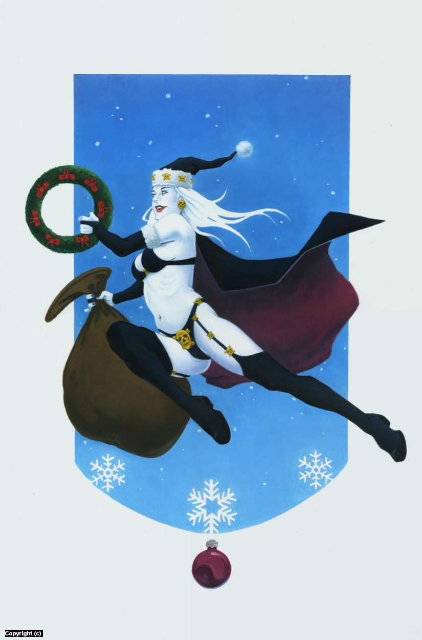 A Lady Deathmas Artwork by Stacy Drum