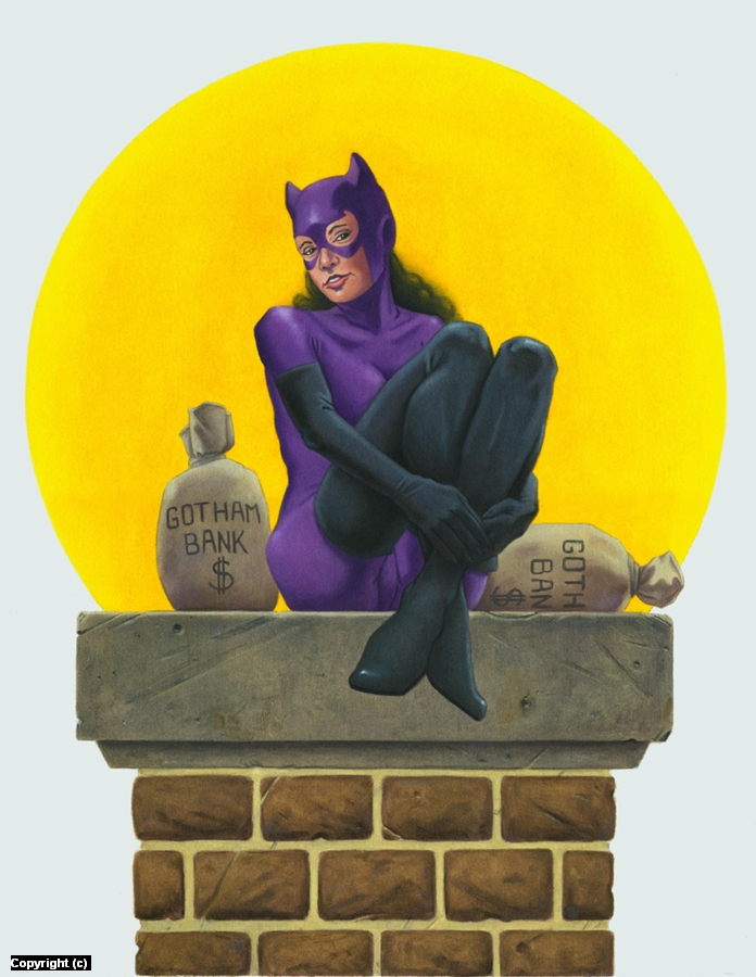 Cat Woman Artwork by Stacy Drum