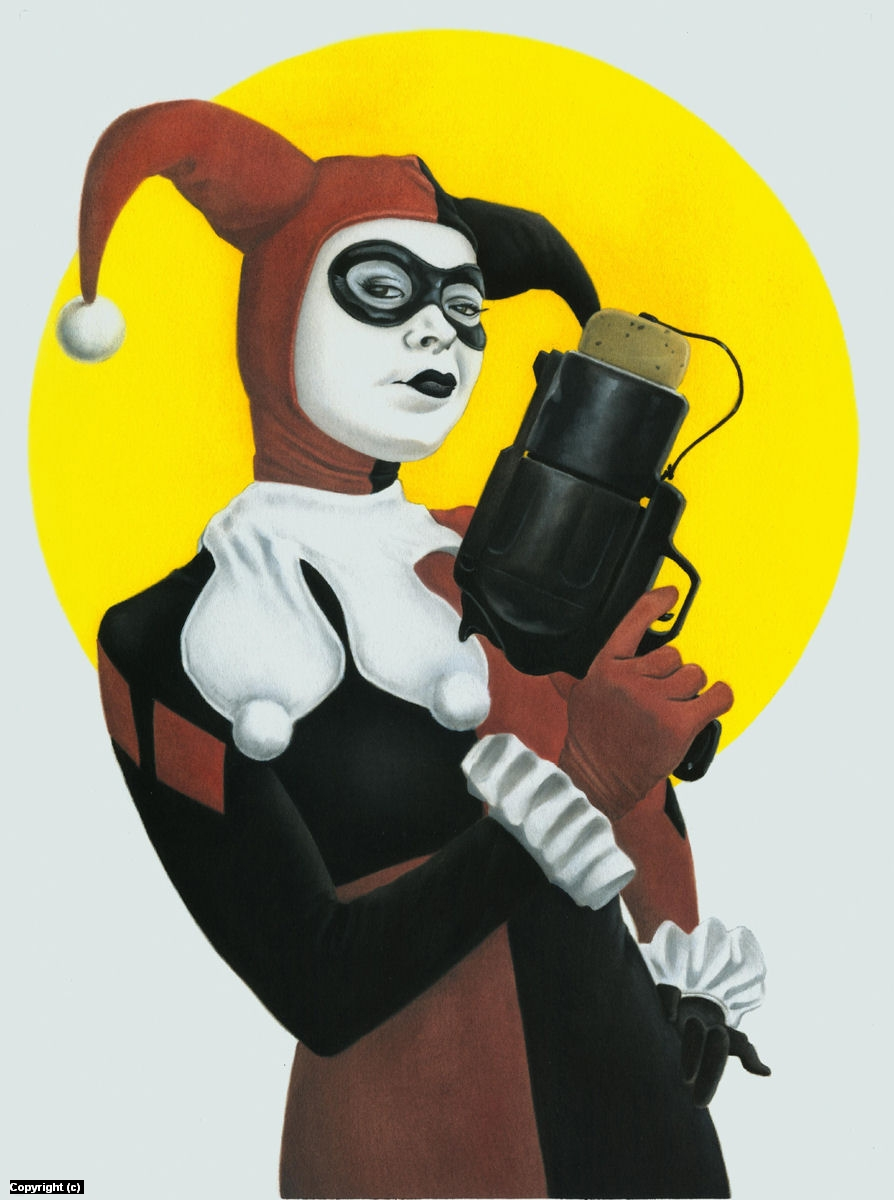 DC's Harley Quinn Artwork by Stacy Drum