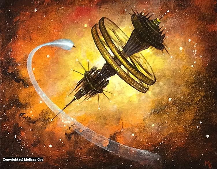 Deep Space Station Gungnir Artwork by Melissa Gay