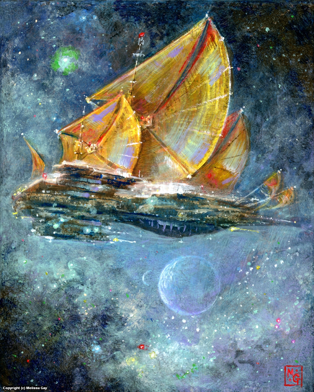 A Tall Ship and a Star to Steer By Artwork by Melissa Gay