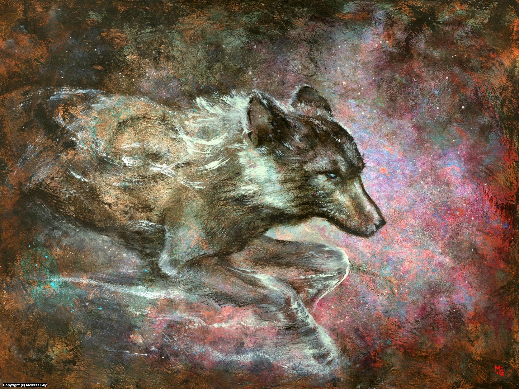 Grandfather Fox Artwork by Melissa Gay