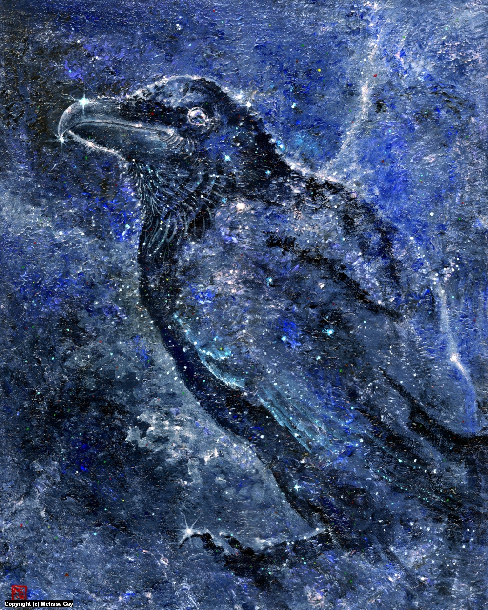 Cosmic Raven Artwork by Melissa Gay