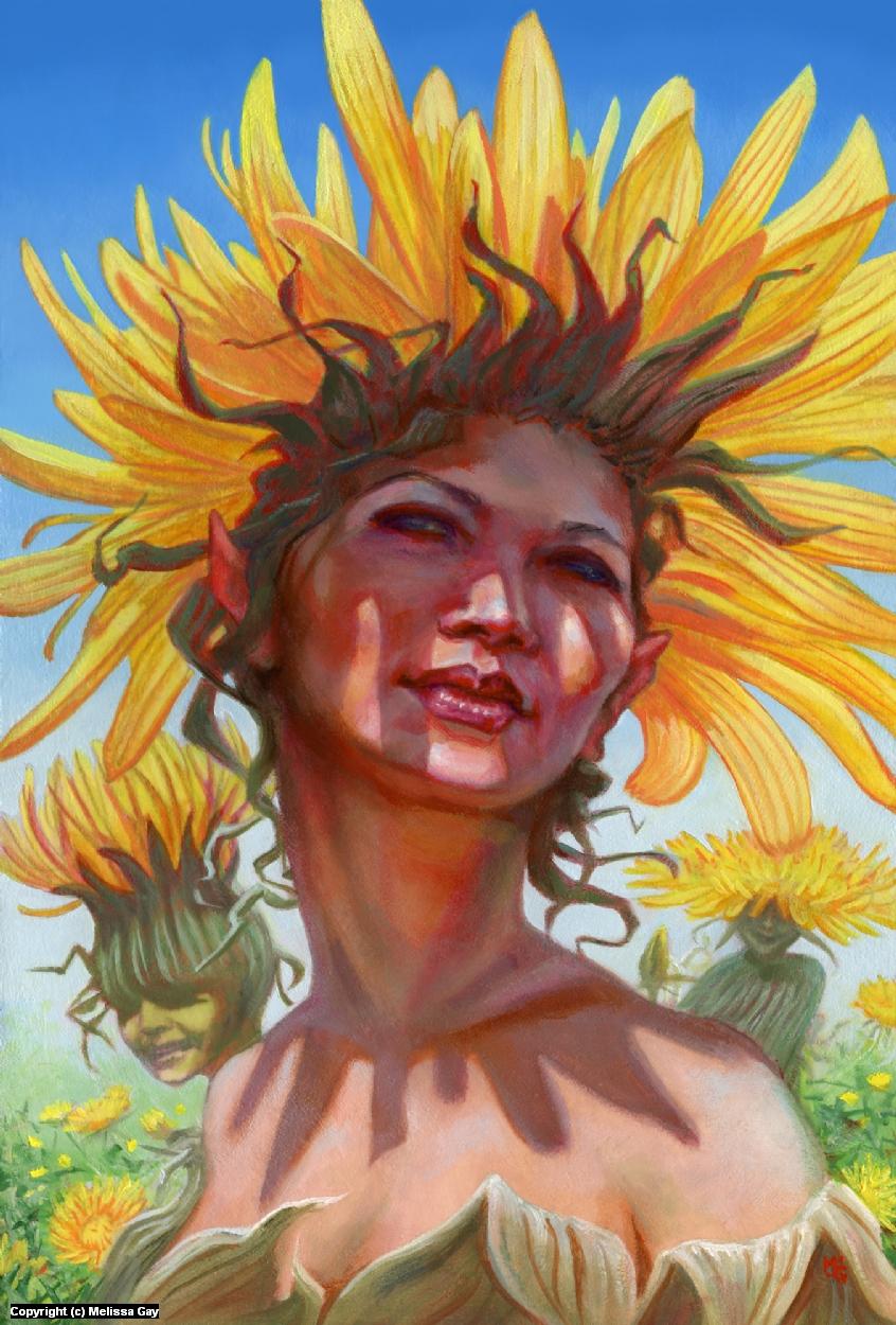 Summer Dandelion Artwork by Melissa Gay