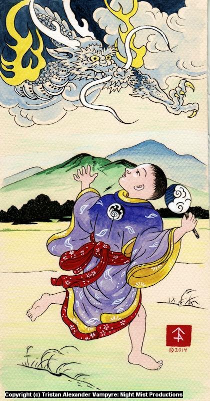 Arashi no kodomo Artwork by Tristan Alexander