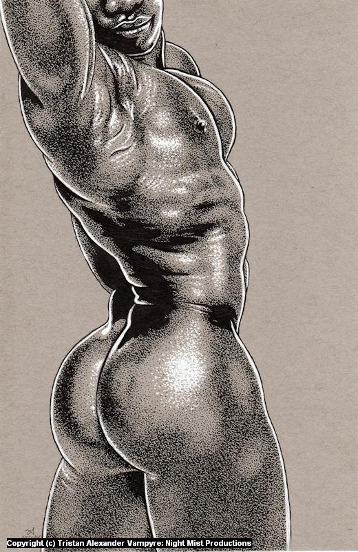 Big Black Beautiful Booty Artwork by Tristan Alexander