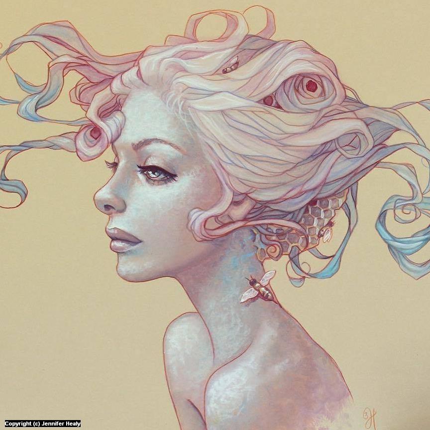 Anxiety Artwork by Jennifer Healy