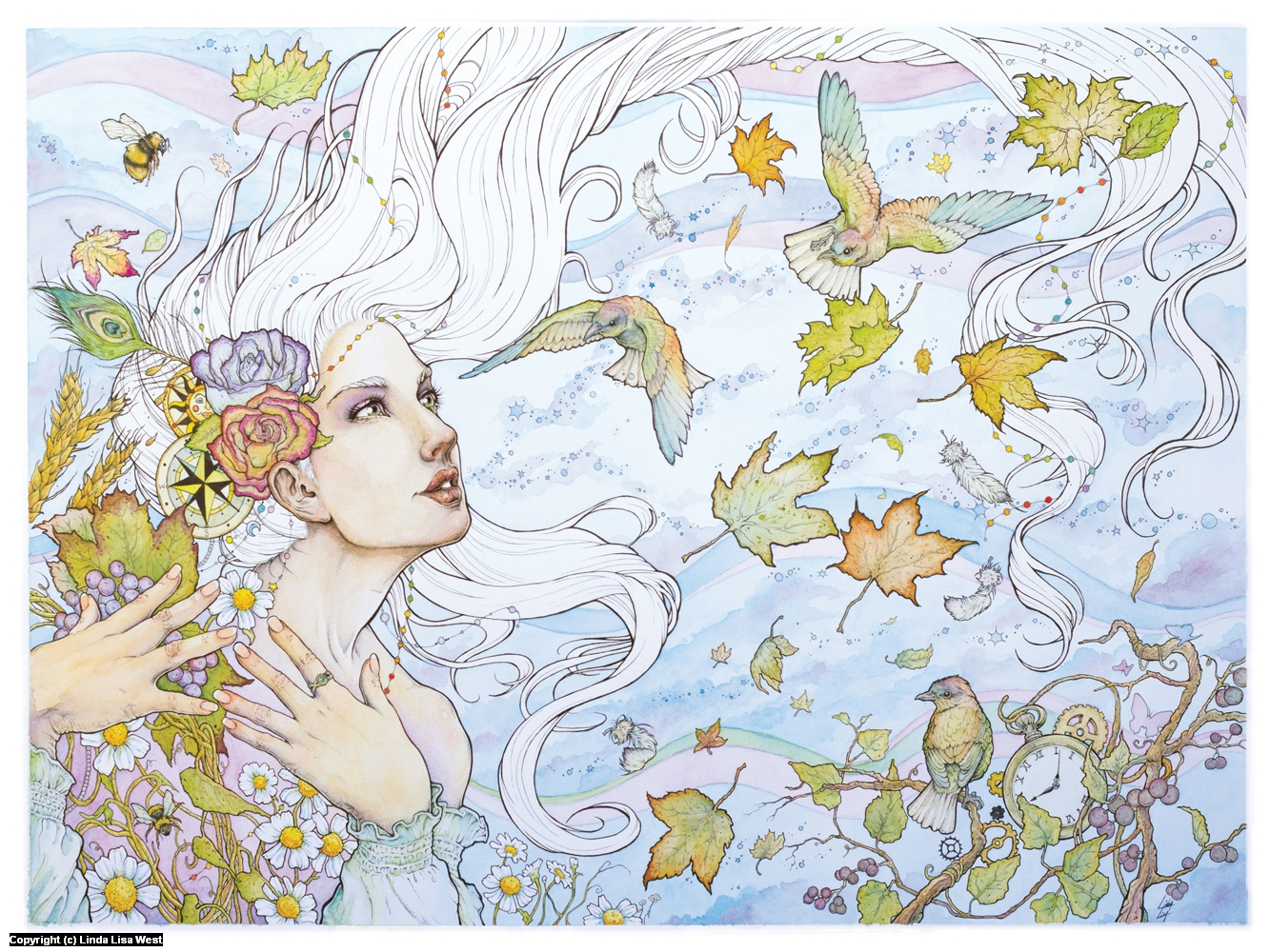 West Wind Artwork by Linda  Lisa