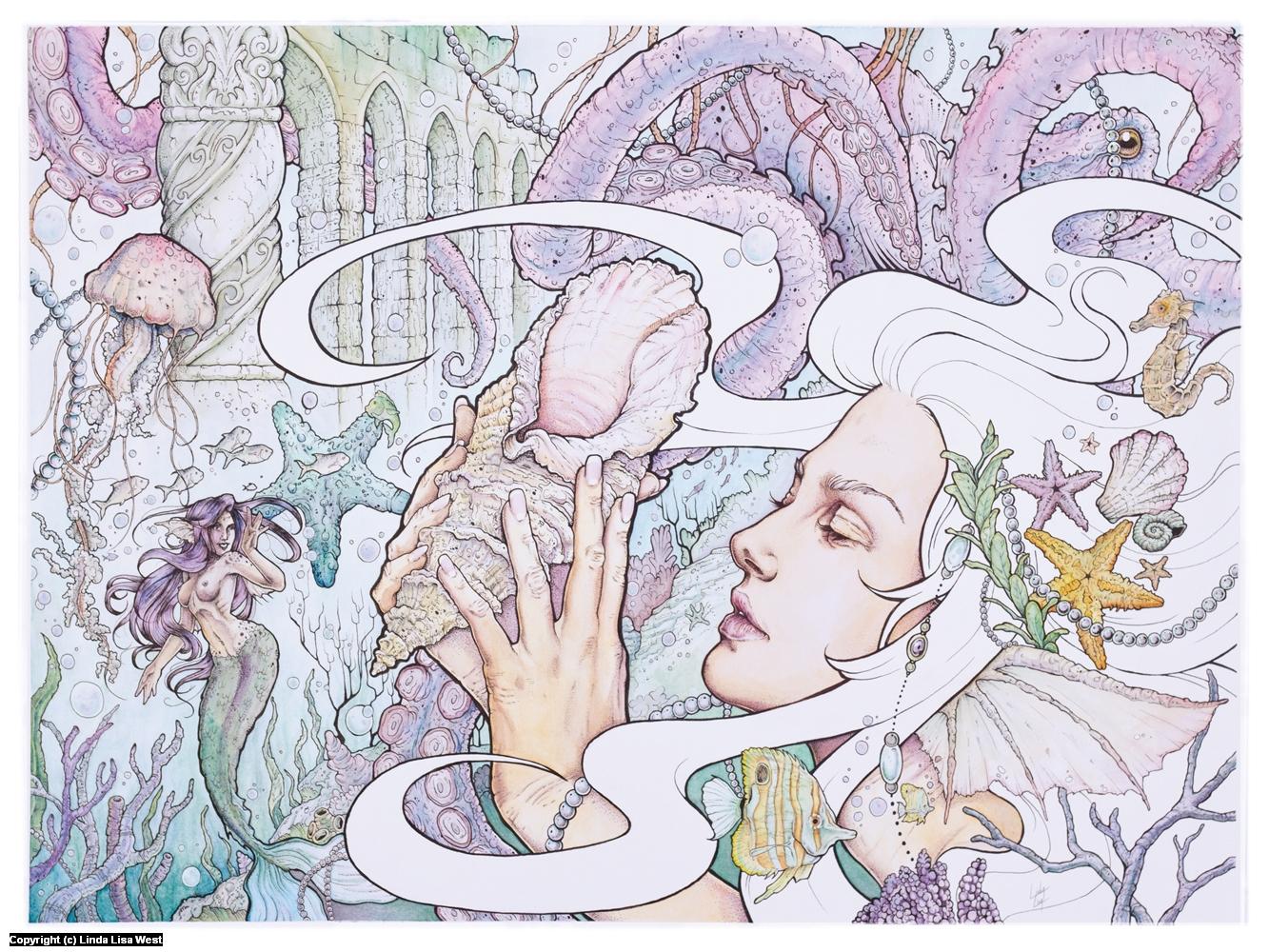 Deep Treasures Artwork by Linda  Lisa
