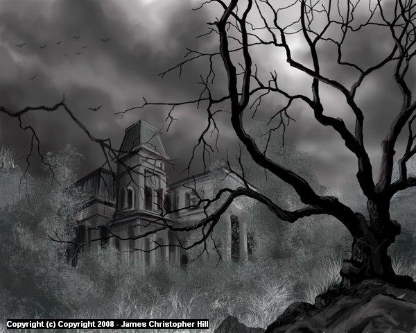 The Dark Mansion Artwork by James Hill