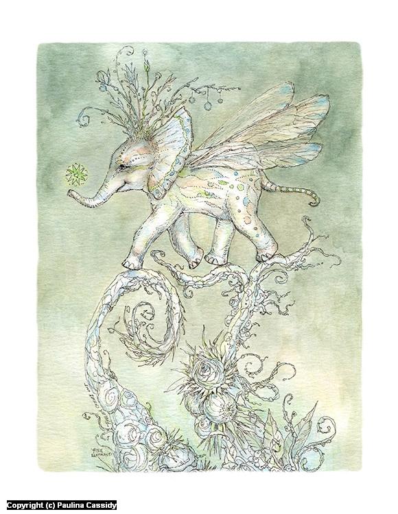Pixie Elephant Artwork by Paulina Cassidy