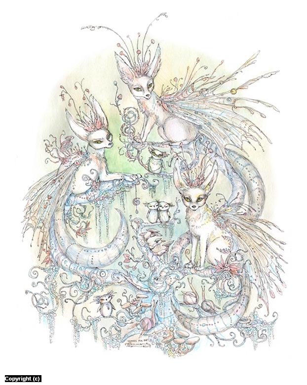 Fennec Fox Fae Artwork by Paulina Cassidy