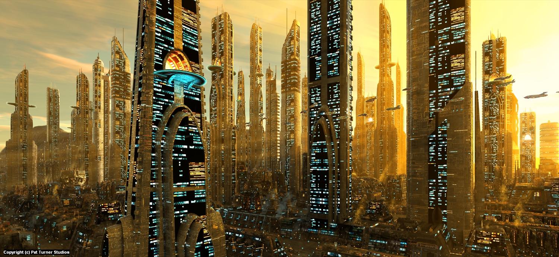 City Panorama Artwork by Patrick Turner