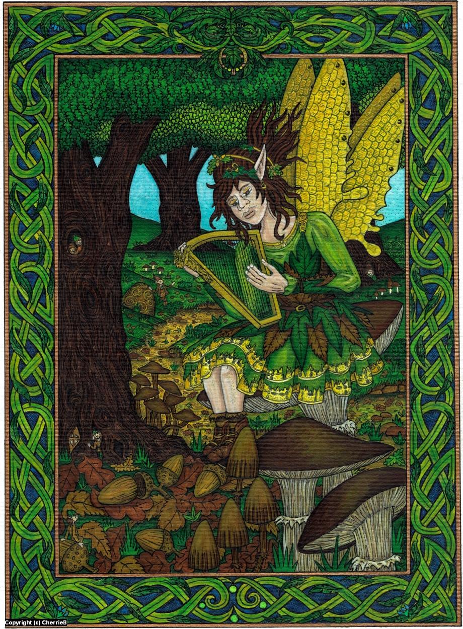 As Autumn Falls Artwork by Cherrie Button
