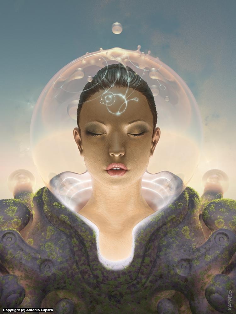 Telepathist Artwork by Antonio Caparo