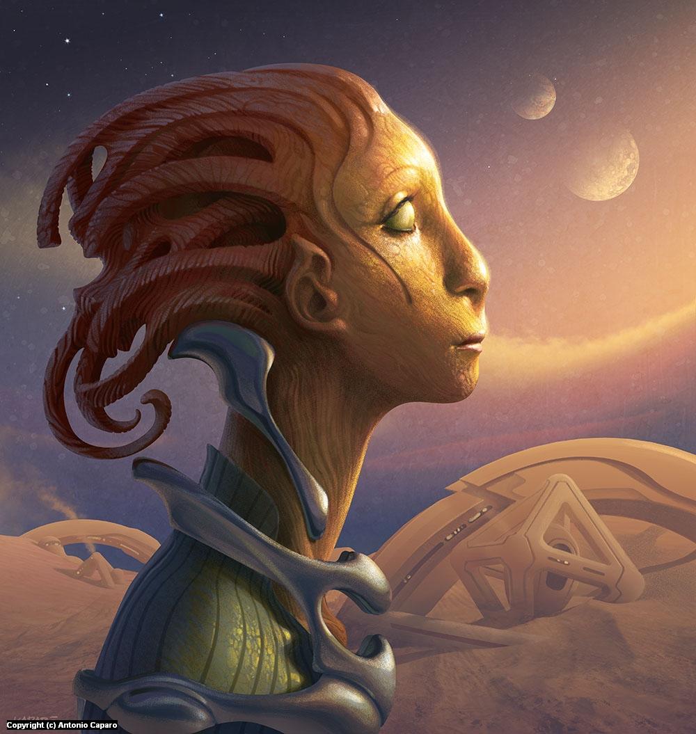 The Martian Chronicles Artwork by Antonio Caparo
