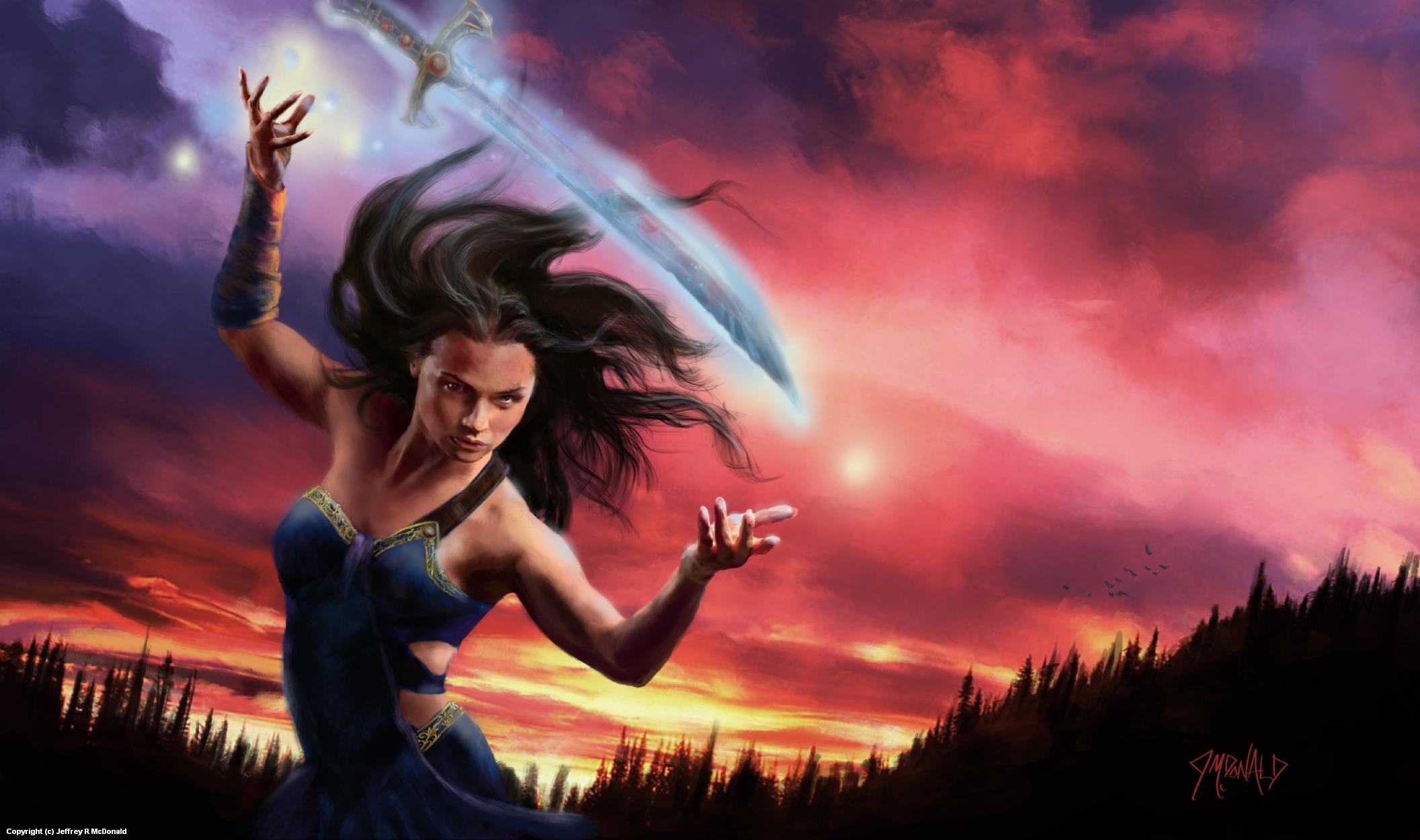 Spirit Sword Artwork by Jeffrey McDonald