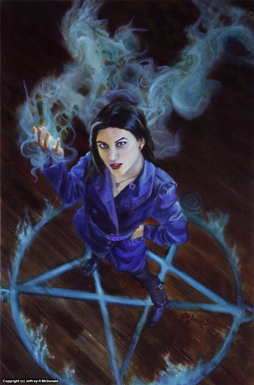 Witchy Woman Artwork by Jeffrey McDonald