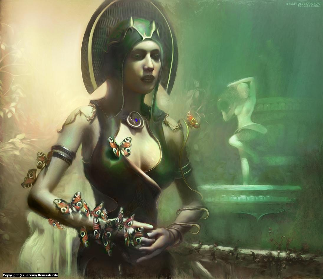 Queen of Her Garden Artwork by J D