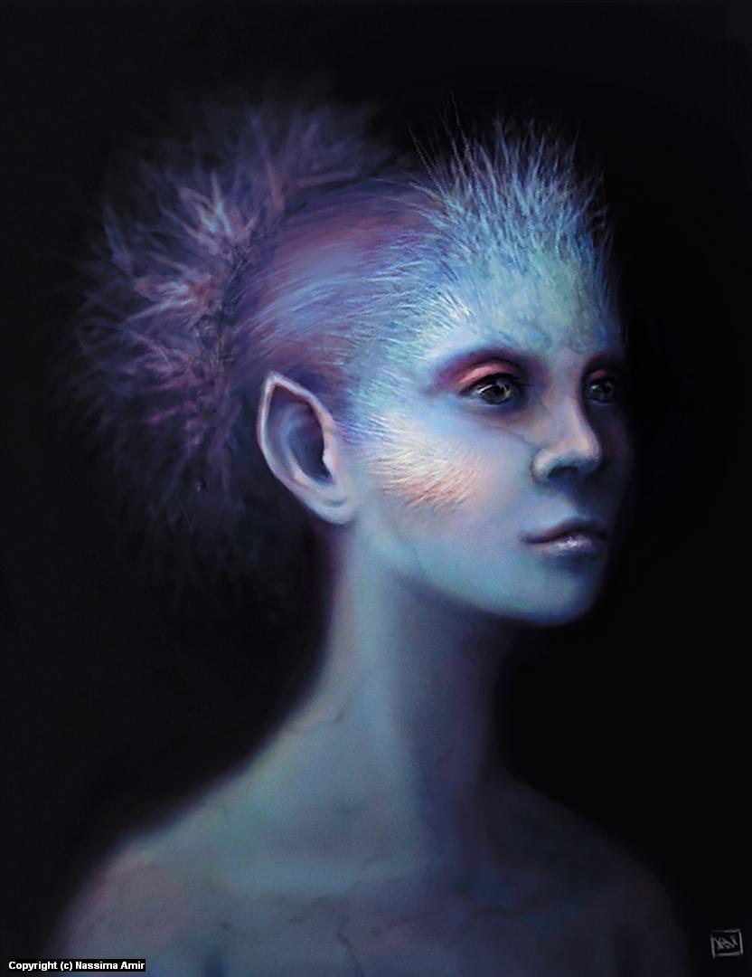 Crystal Elf Artwork by Nassima  Amir