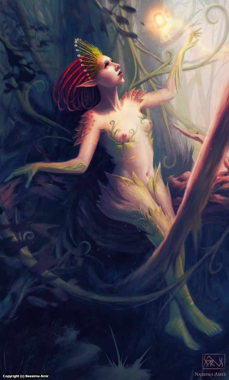 Princess Drosera Artwork by Nassima  Amir