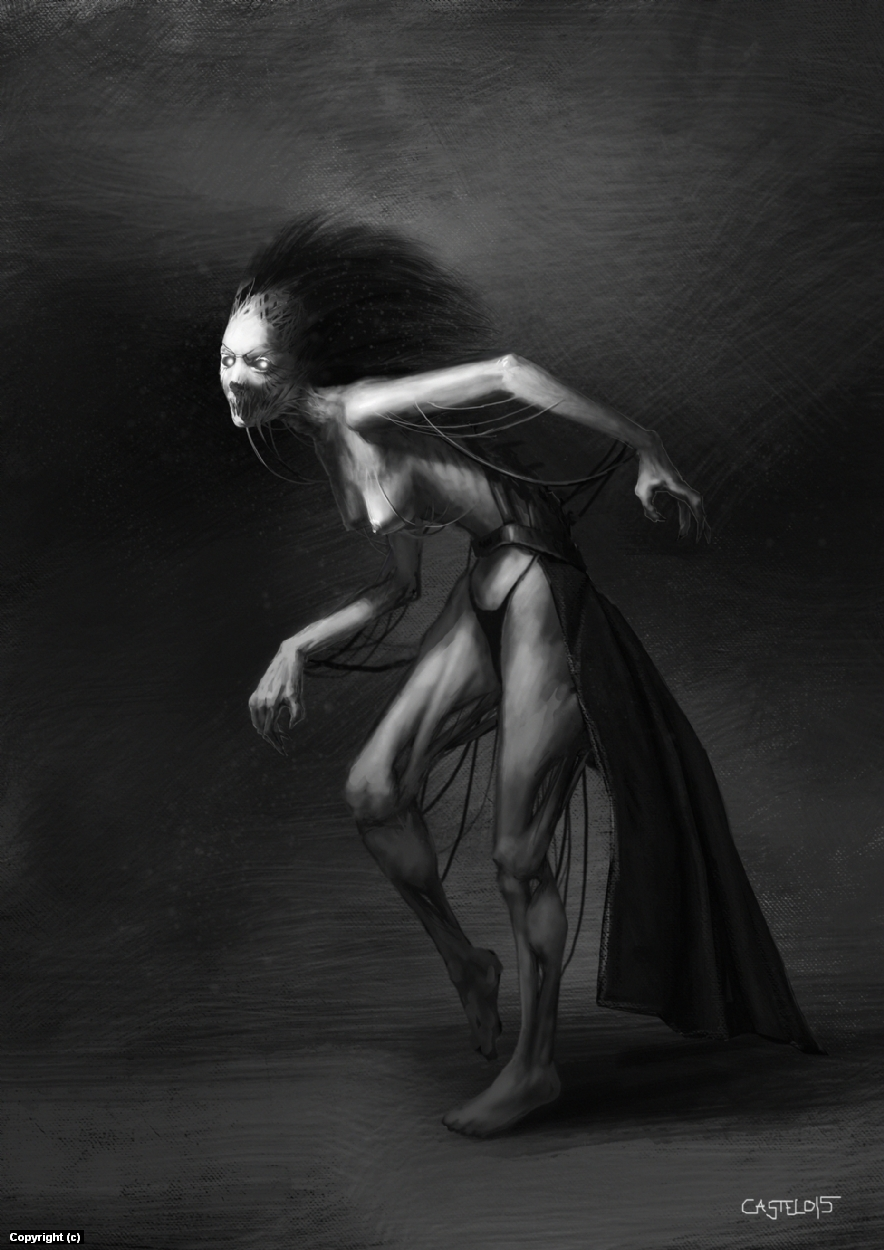 Twisted witch Artwork by Quentin Castel