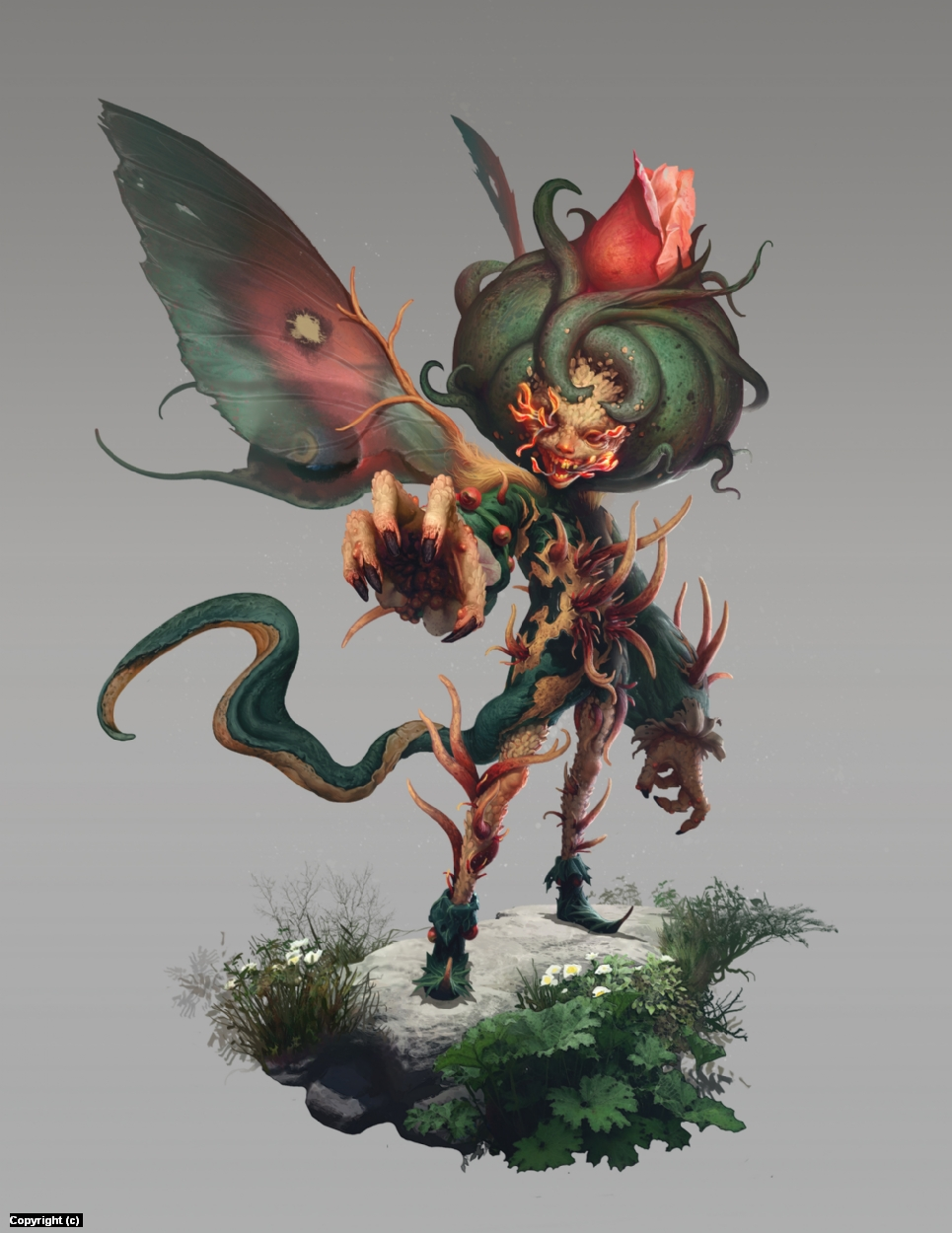 Infected Fairy Artwork by Quentin Castel