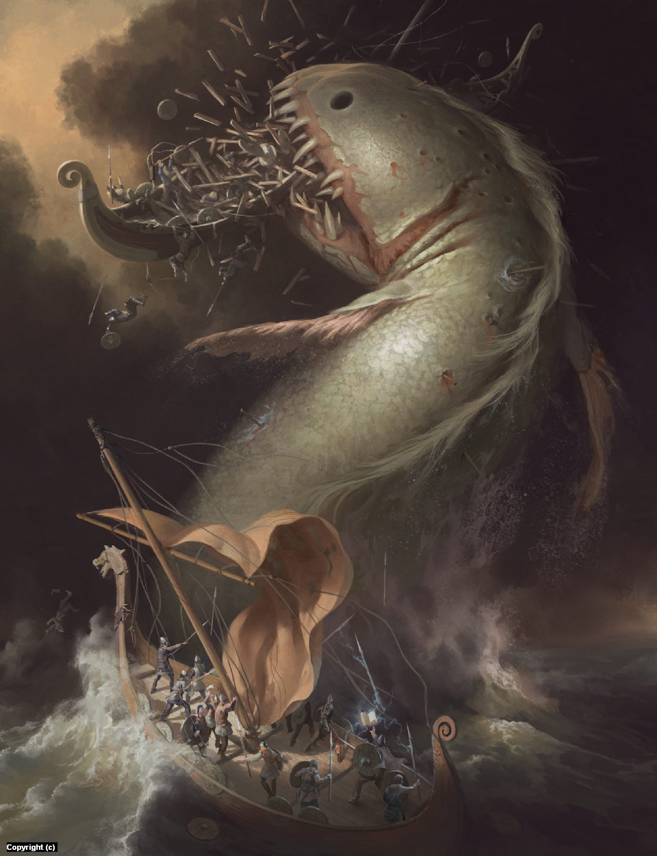 Leviathan Artwork by Quentin Castel