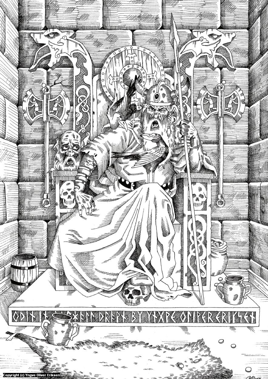 Odin Artwork by Yngve Oliver Eriksen