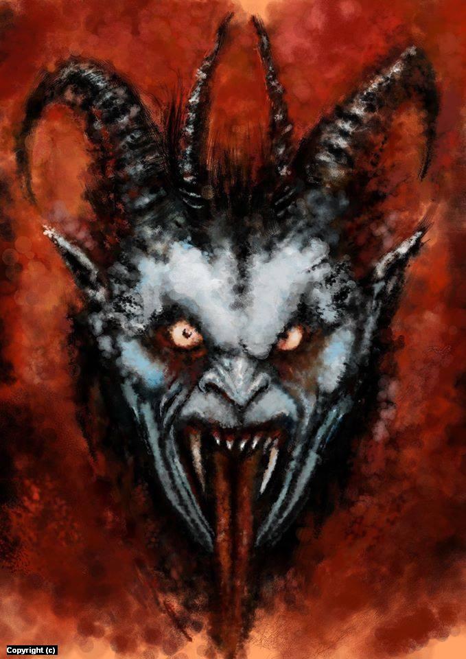 Demonic.  Artwork by Marc  Delano