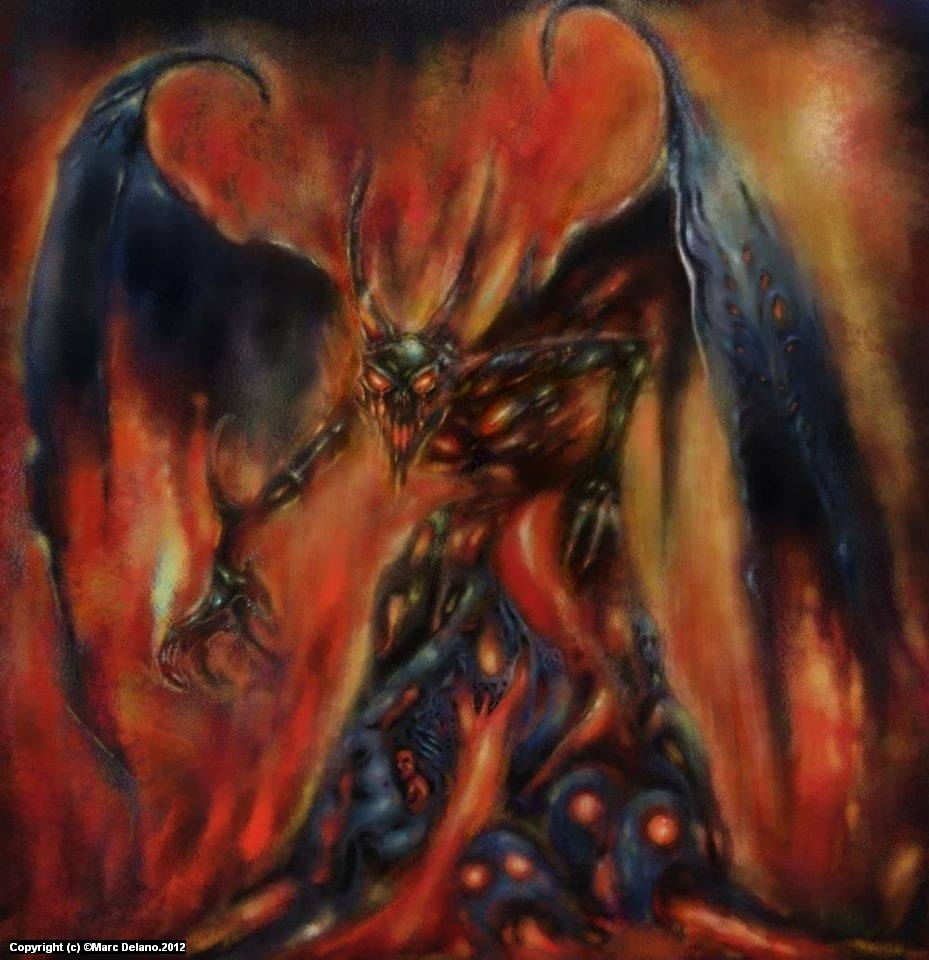 Hellfire Artwork by Marc  Delano