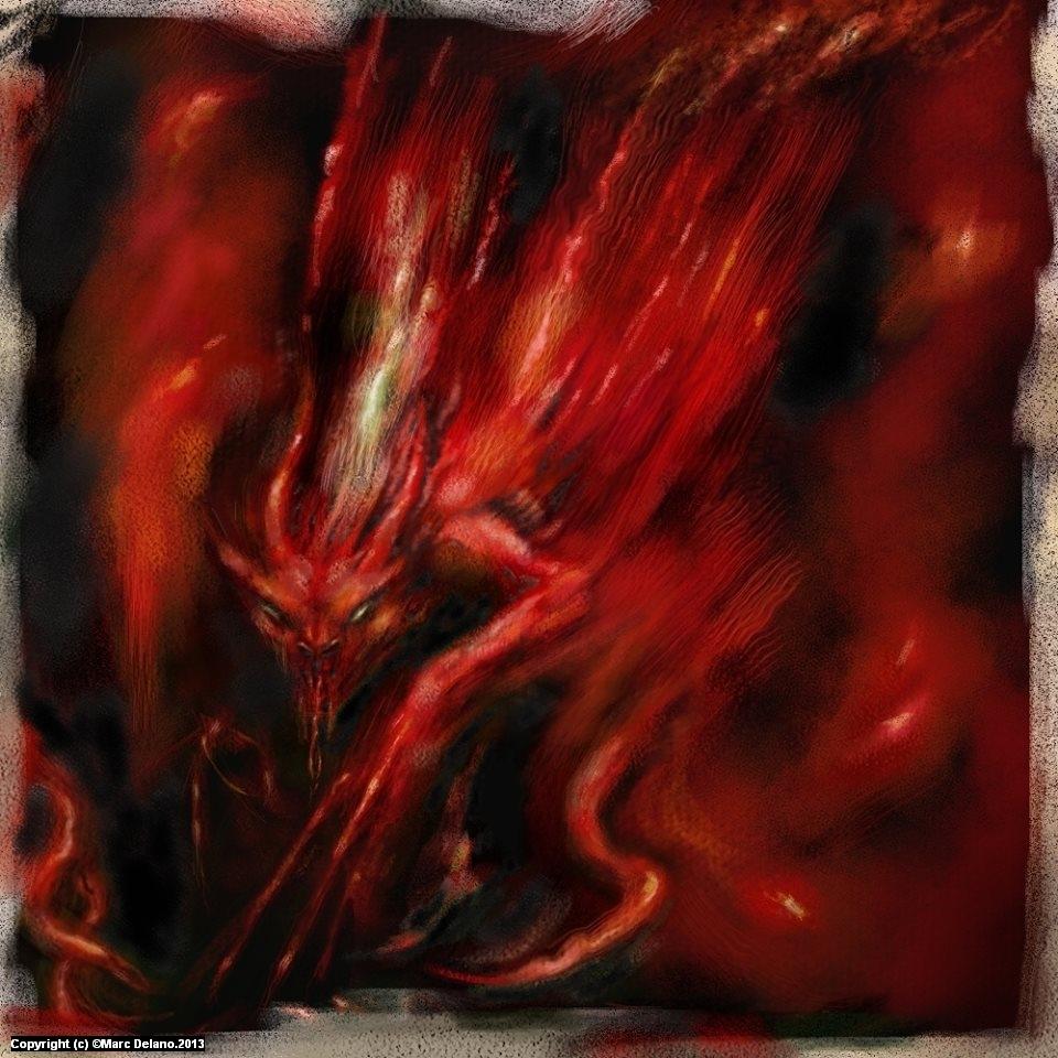 Demon Artwork by Marc  Delano