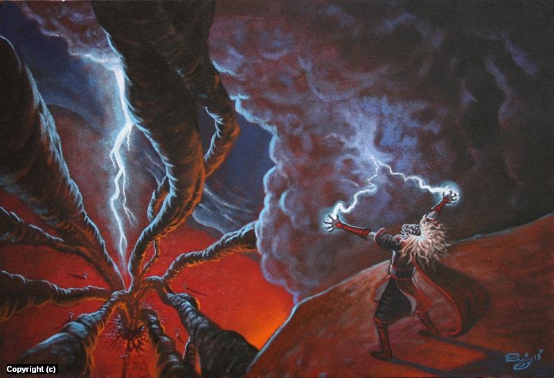 Warlock Artwork by Juan Ruiz