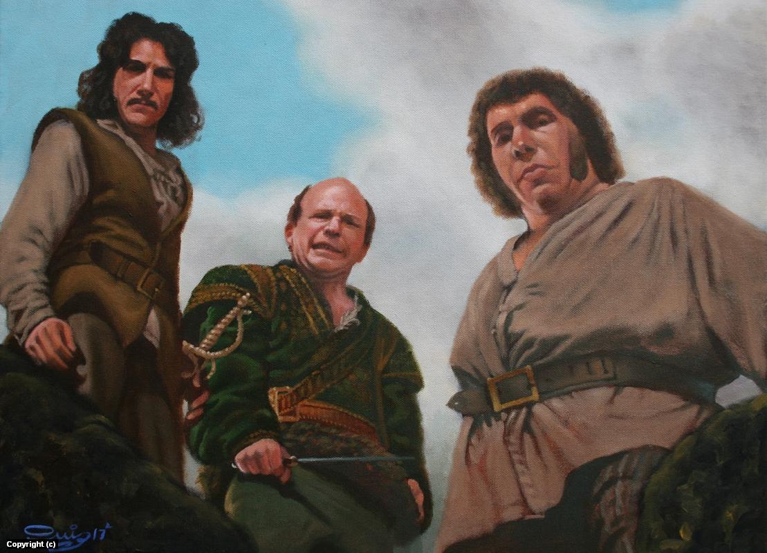 The Three Bandits Artwork by Juan Ruiz