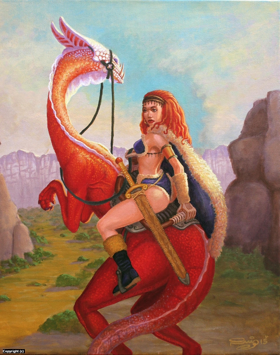 Red Sonja Artwork by Juan Ruiz