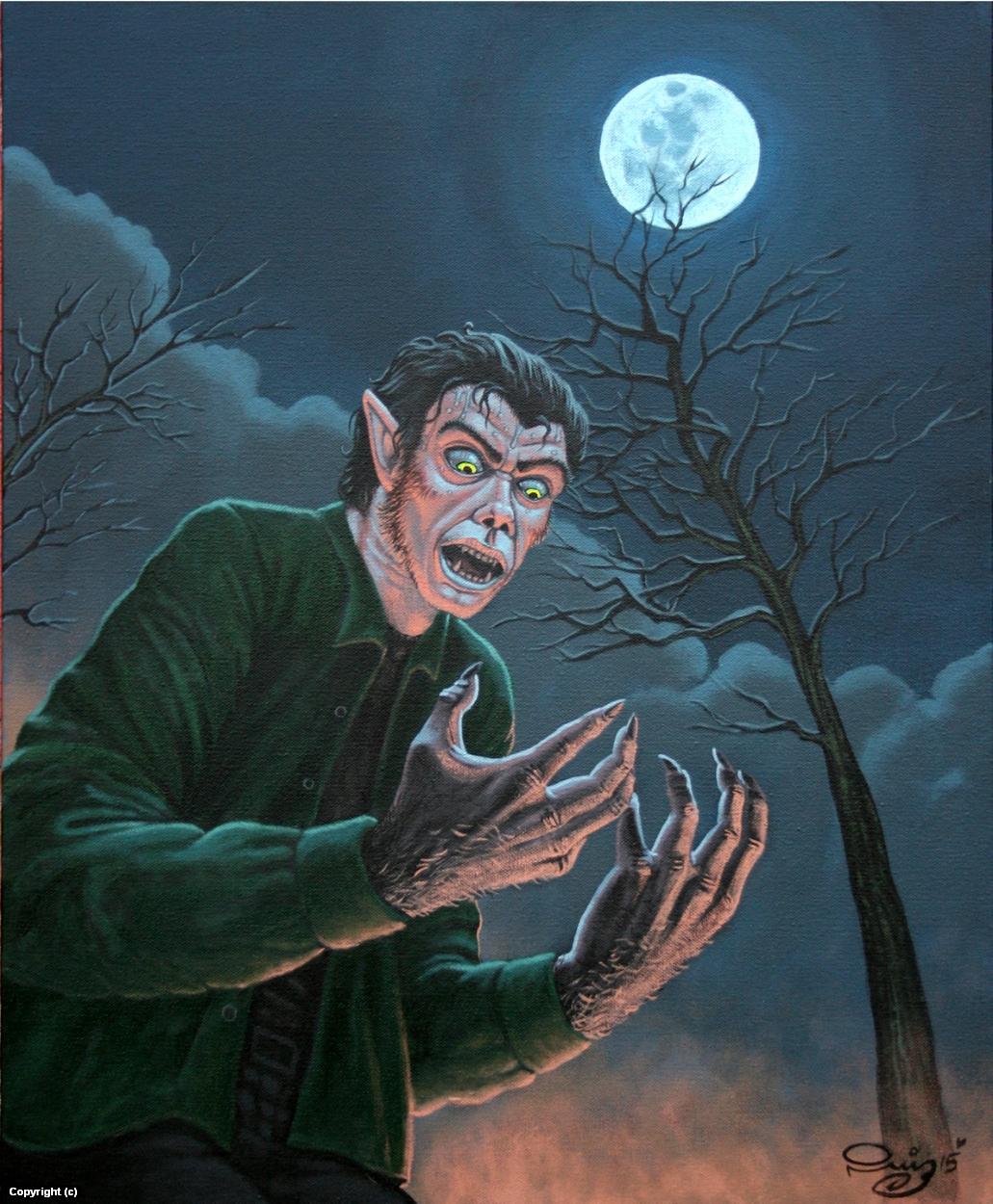 The Wolf Man Artwork by Juan Ruiz