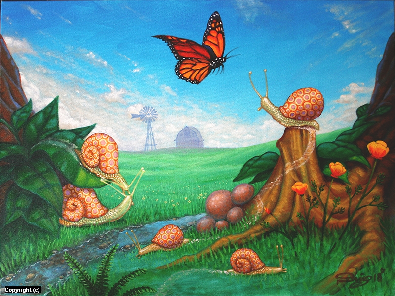 Spring Snails Artwork by Juan Ruiz