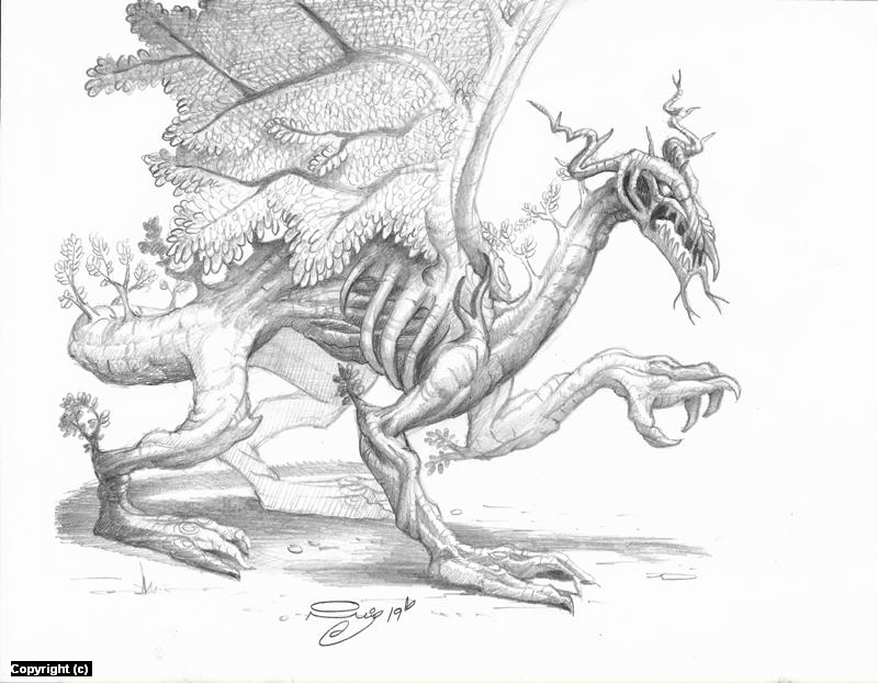 Druidic Dragon  Artwork by Juan Ruiz