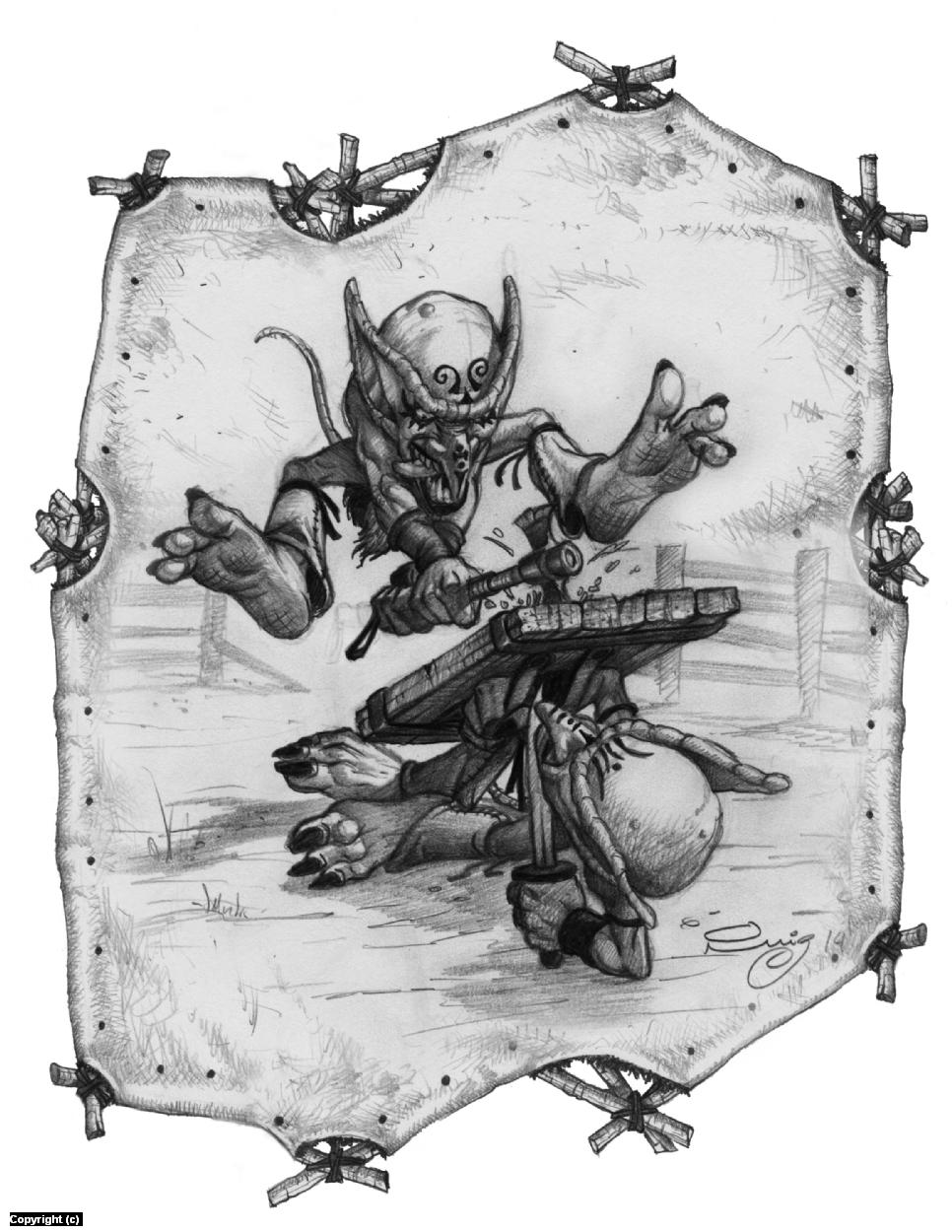 Goblin Training Camp Artwork by Juan Ruiz