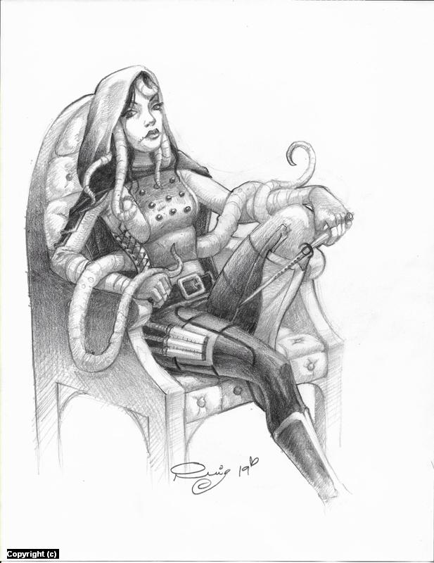 Nix the cursed rogue Artwork by Juan Ruiz