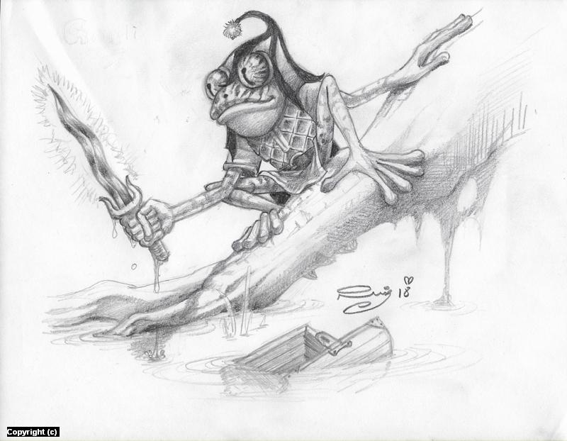 Grippli Artwork by Juan Ruiz