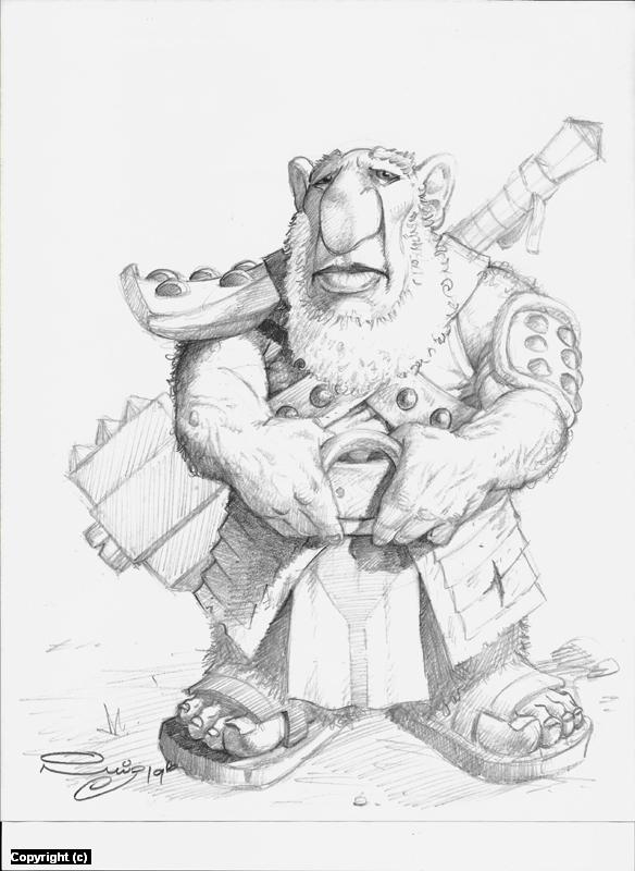 Kiln Gnome Warrior Artwork by Juan Ruiz