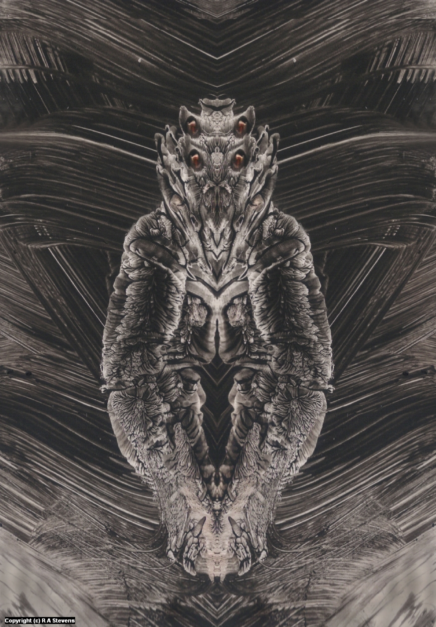 Mothman Grub Artwork by R Alexander  Stevens