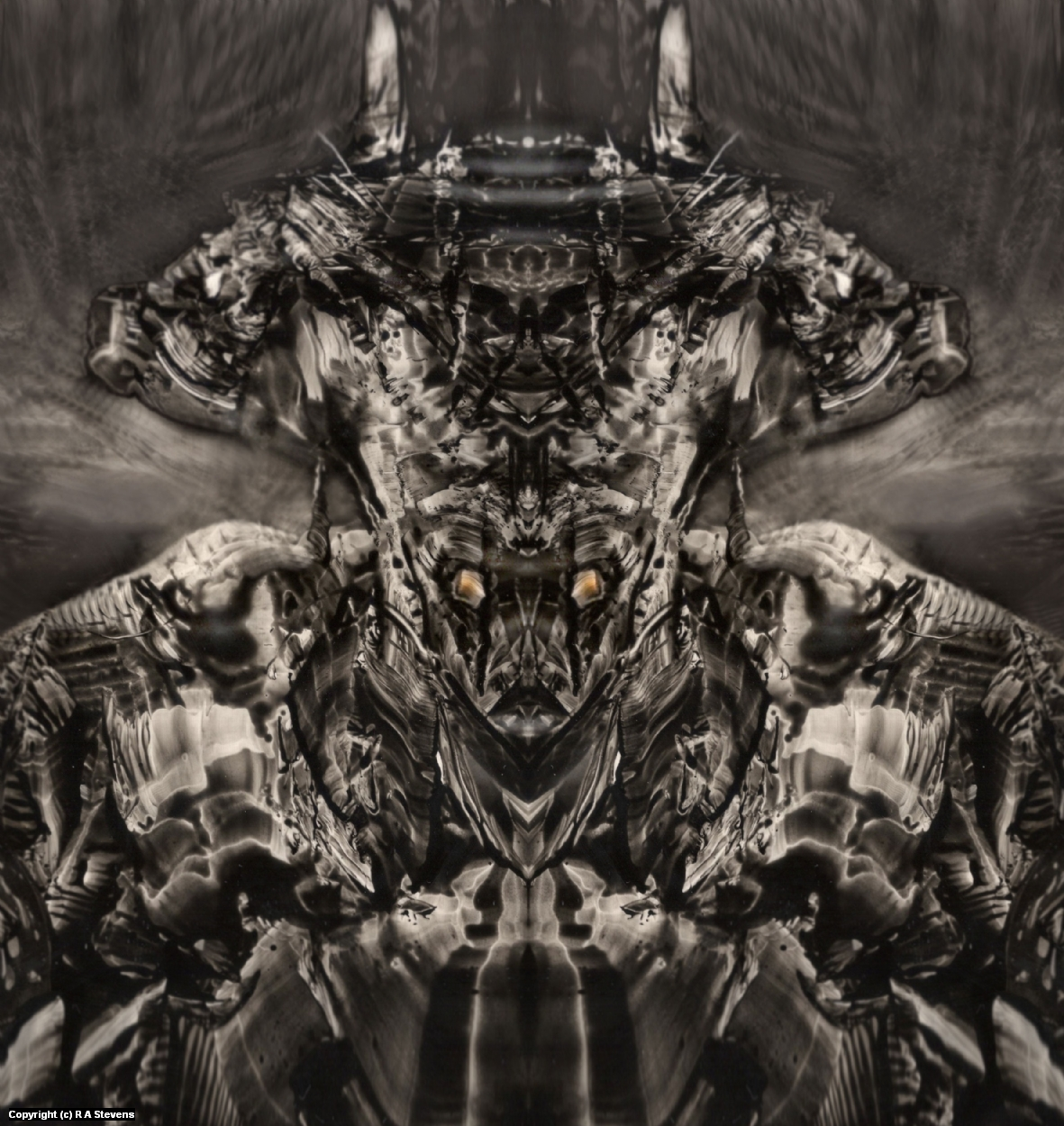 Metal Djinn Artwork by R Alexander  Stevens
