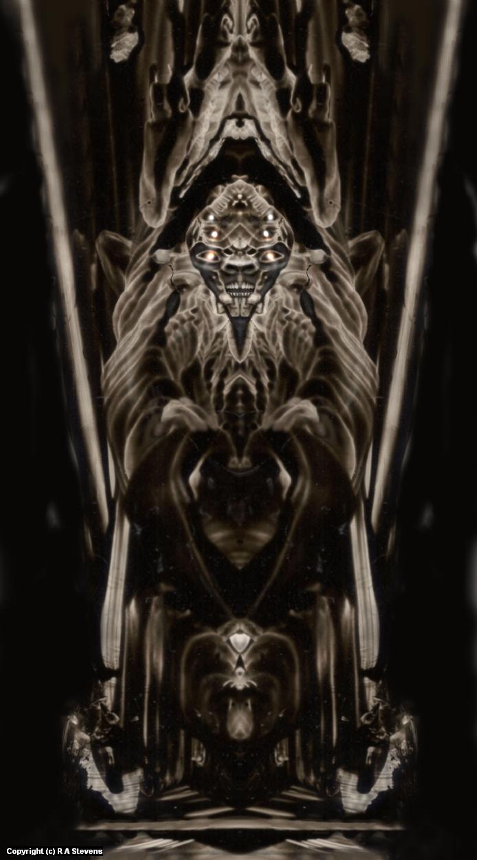 Mothman Throne Artwork by R Alexander  Stevens