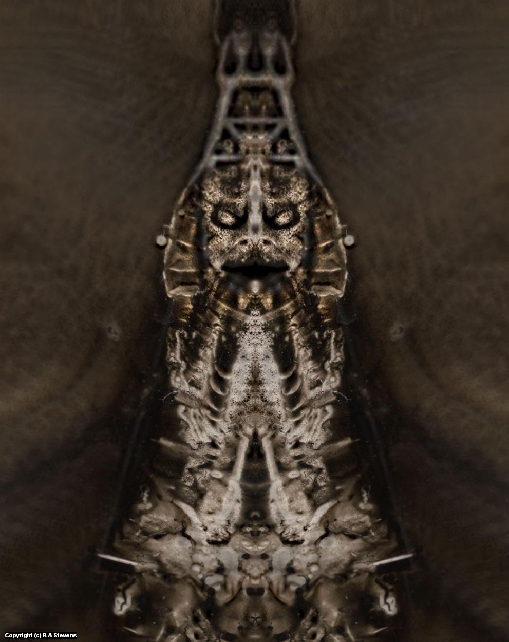 Mothman Mummy Artwork by R Alexander  Stevens