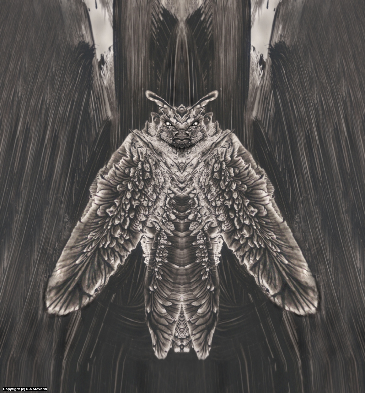 Mothman 3 Artwork by R Alexander  Stevens