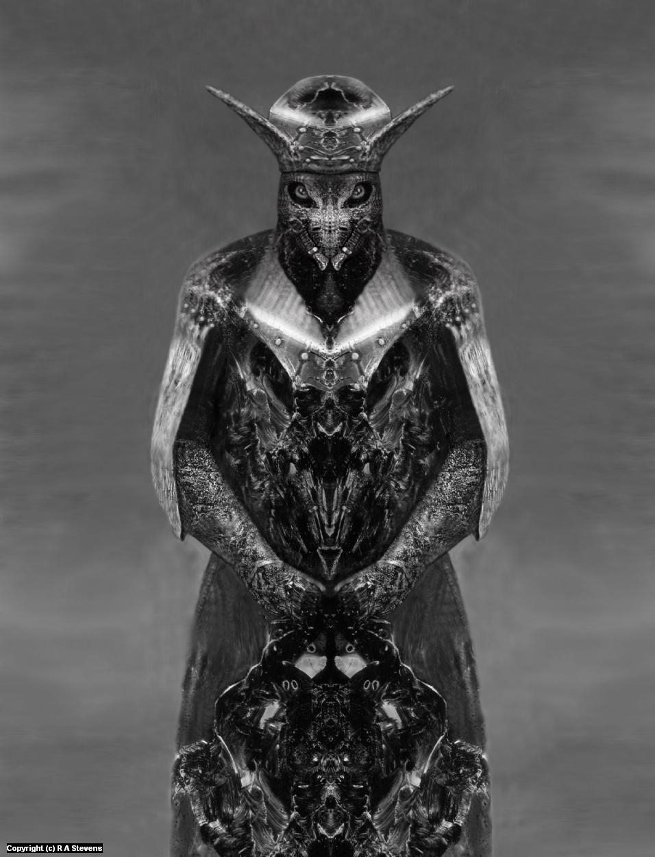 Djinn Warrior Artwork by R Alexander  Stevens