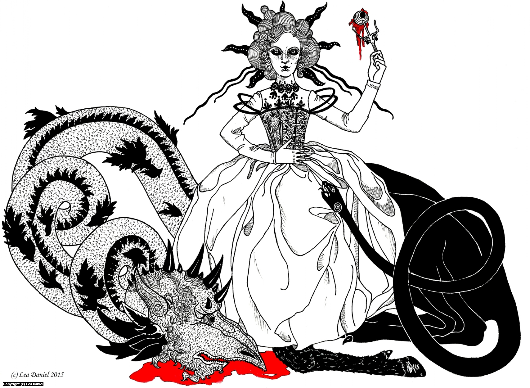 Beauty and the Beast Artwork by Anastasiia Antonova