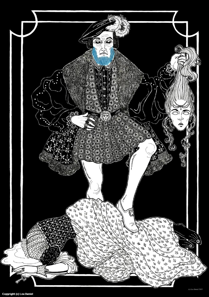 La Barbe bleue (Bluebeard) Artwork by Anastasiia Antonova